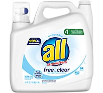 all Laundry Detergent Liquid Free Clear for Sensitive Skin 94 Loads - 141 Fl. Oz.