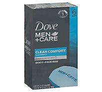 Dove Men+Care Body + Face Bar Clean Comfort - 6-4 Oz