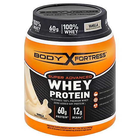 Body Fortress Whey Protein Super Advanced Vanilla - 32 Oz