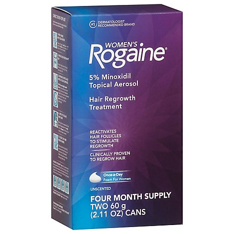 Rogaine Hair Regrowth Treatment Foam Women - 2-2.11 Oz