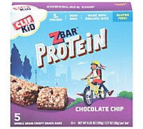 CLIF Kid ZBar Organic Protein Bar Chocolate Chip - 5-1.27 Oz