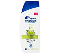 Head & Shoulders Shampoo + Conditioner Dandruff 2 in 1 Green Apple - 23.7 Fl. Oz.