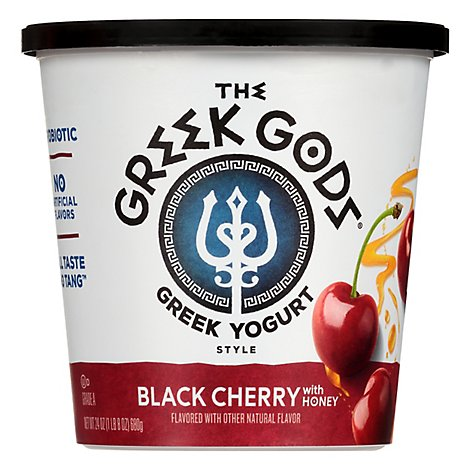 Greek Gods Greek Yogurt Black Cherry - 24 Oz