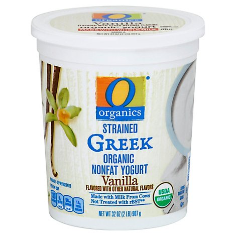 O Organics Organic Greek Yogurt Vanilla - 32 Oz