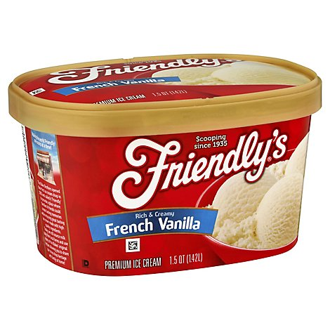 Friendlys French Vanilla Ice Cream - 1.5 Quart