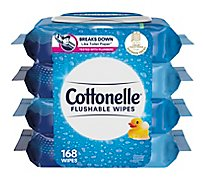 Cottonelle FreshCare Cleansing Cloths Flushable Resealable Bag - 4-42 Count