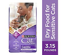 Cat Chow Cat Food Dry Gentle Blend Of High-Quality Proteins - 3.15 Lb