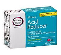 Signature Care Acid Reducer 24 Hour Lansoprazole Delayed Release 15mg Capsule - 42 Count