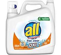 all Liquid Detergent Stainlifters Oxi Free & Clear Jug - 141 Fl. Oz.