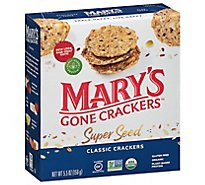 Marys Gone Crackers Super Seed Organic Classic  - 5.5 Oz