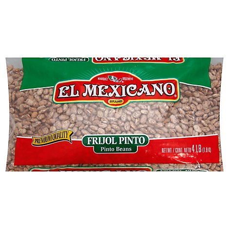 El Mexicano Beans Pinto Can - 64 Oz