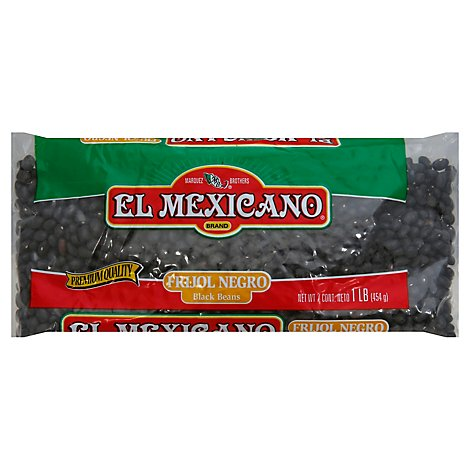El Mexicano Beans Black Can - 16 Oz