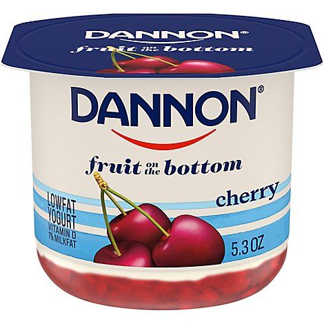 Dannon Yogurt Lowfat Fruit on the Bottom Cherry - 5.3 Oz
