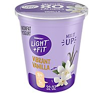 Dannon Light & Fit Yogurt Nonfat Vanilla - 32 Oz