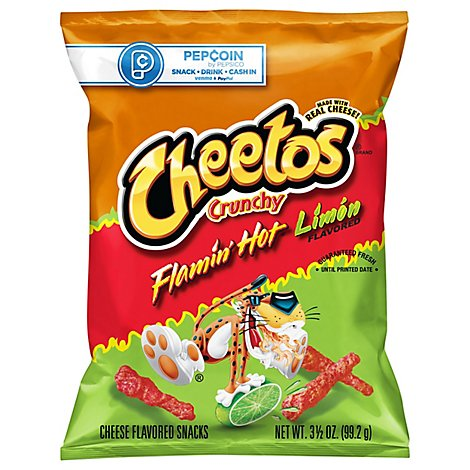 CHEETOS Snacks Cheese Flavored Flamin Hot Limon - 3.5 Oz