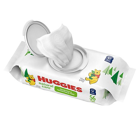 Huggies Natural Care Wipes Sensitive Fragrance Free Refill - 56 Count