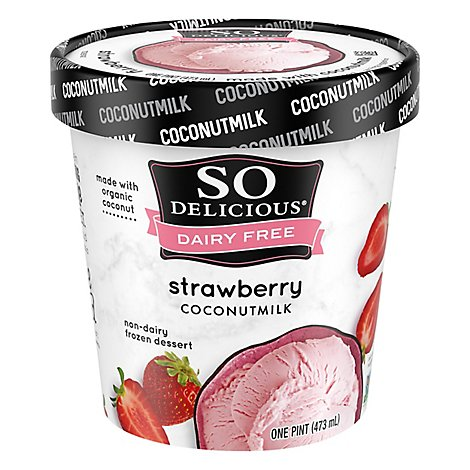 So Delicious Simply Strawberry Ice Cream - 1 Pint