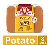 Oroweat Hot Dog Buns Potato 8 Count - 16 Oz