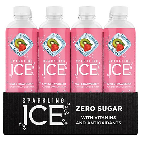 Sparkling Ice Kiwi Strawberry Sparkling Water 12-17 fl. oz. Bottles