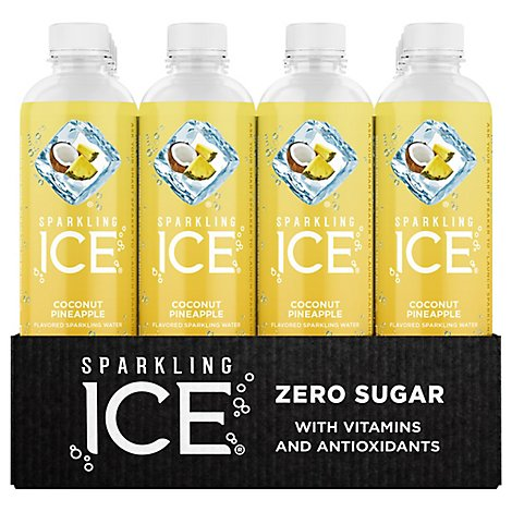 Sparkling Ice Coconut Pineapple Sparkling Water 12-17 fl. oz. Plastic Bottles