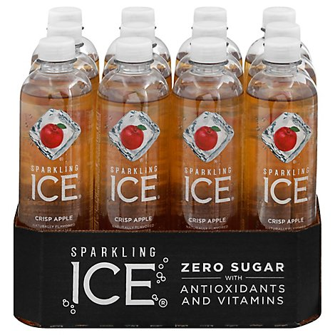 Sparkling Ice Crisp Apple Sparkling Water 12-17 fl. oz. Bottles