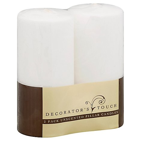 Decorators Touch Unscented Pillers Candles - Each