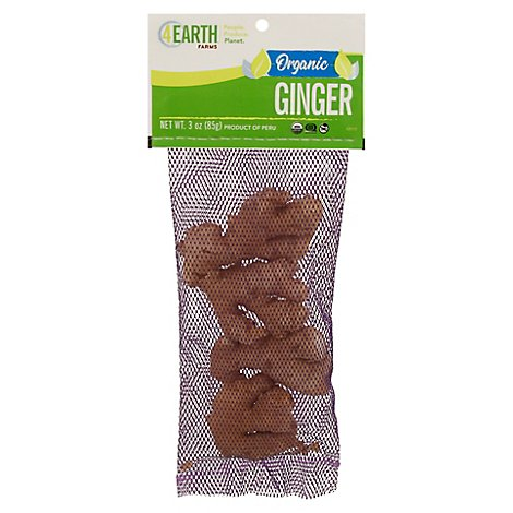 Organic Ginger Root Organic - 3 Oz