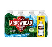 Arrowhead 100% Mountain Spring Water - 12-12 Fl. Oz.