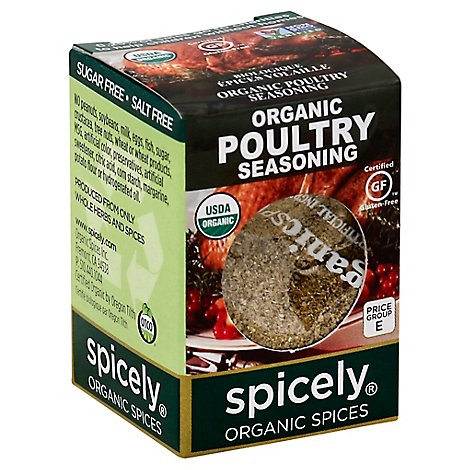 Spicely Organic Spices Seasoning Poultry Ecobox - 0.35 Oz