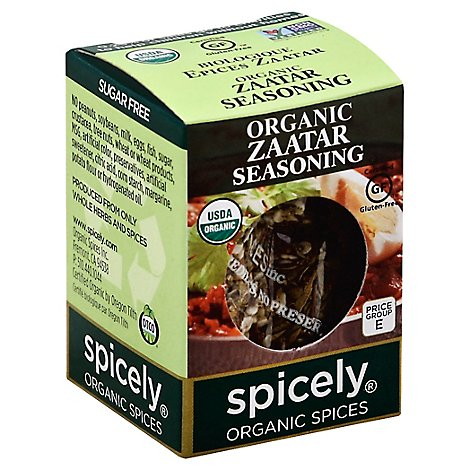 Spicely Organic Spices Seasoning Zataar Ecobox - 0.35 Oz