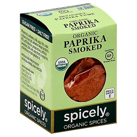 Spicely Organic Spices Paprika Smoked Ecobox - 0.45 Oz