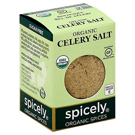 Spicely Organic Spices Celery Salt Ecobox - 0.5 Oz