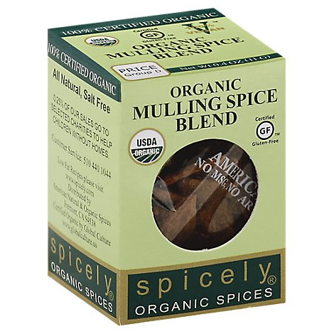 Spicely Organic Spices Spice Mulling Blend Ecobox - 0.4 Oz