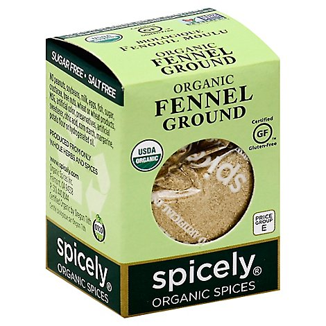Spicely Organic Spices Fennel Ground Ecobox - 0.5 Oz
