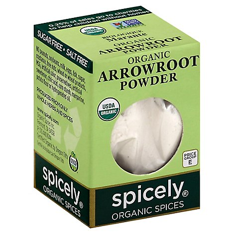 Spicely Organic Spices Powder Arrowroot Ecobox - 0.4 Oz
