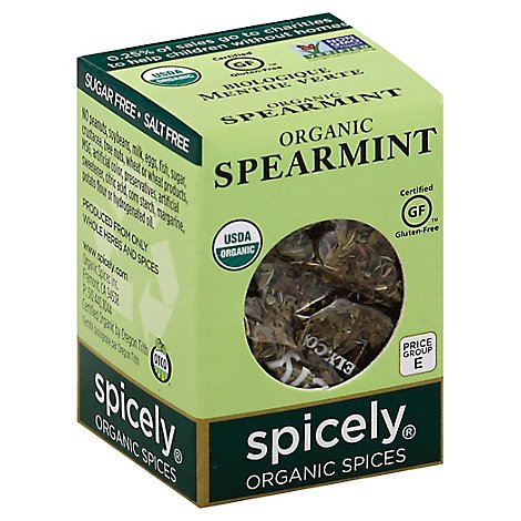 Spicely Organic Spices Spearmint Ecobox - 0.1 Oz
