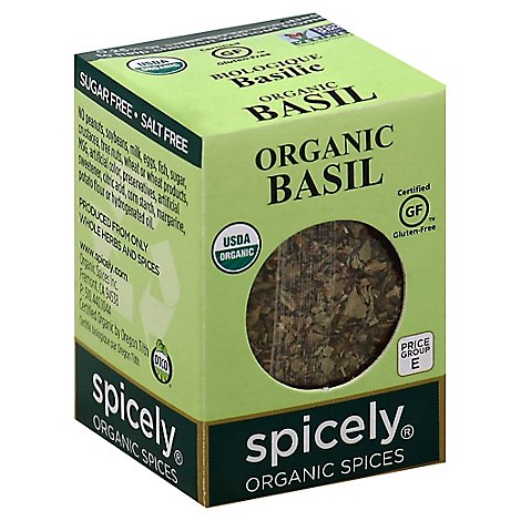 Spicely Organic Spices Basil Ecobox - 0.1 Oz