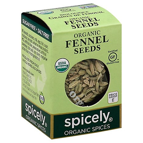 Spicely Organic Spices Fennel Seed Ecobox - 0.3 Oz