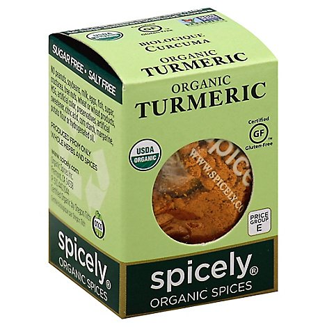 Spicely Organic Spices Turmeric Ecobox - 0.45 Oz