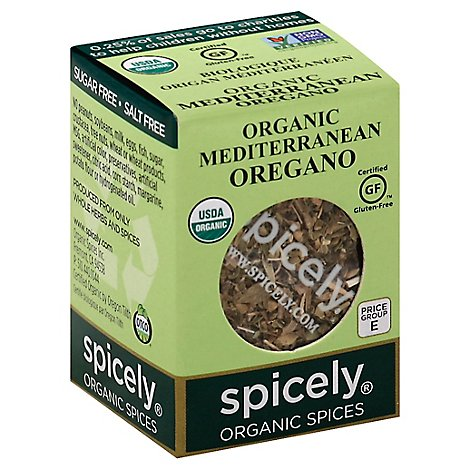 Spicely Organic Spices Oregano Mediterranean Ecobox - 0.15 Oz
