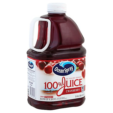 Ocean Spray Cranberry No Sugar Added Juice - 3 Liter