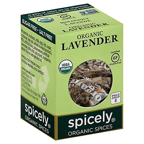 Spicely Organic Spices Lavender Ecobox - 0.1 Oz