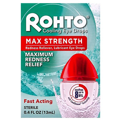 Rohto Eye Drops Cooling Cool Max - 0.4 Fl. Oz.
