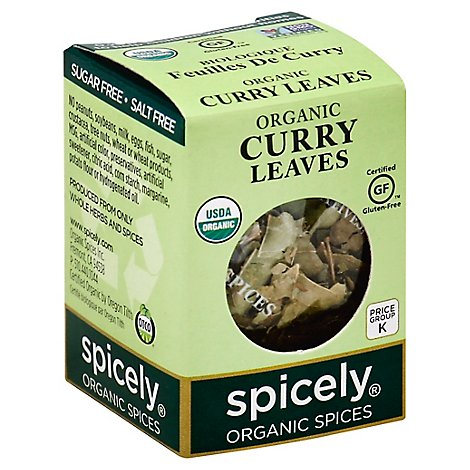 Spicely Organic Spices Curry Leaves Ecobox - 0.1 Oz