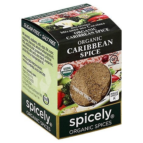 Spicely Organic Spices Spice Caribbean Ecobox - 0.4 Oz