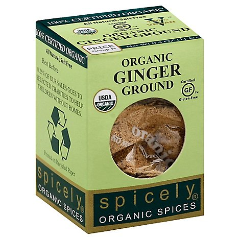 Spicely Organic Spices Ginger Ground Ecobox - 0.4 Oz