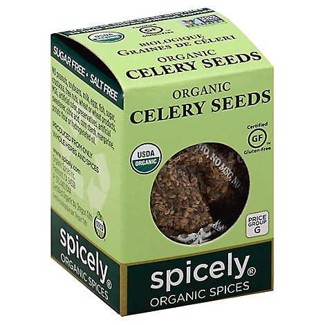 Spicely Organic Spices Celery Seed Ecobox - 0.35 Oz