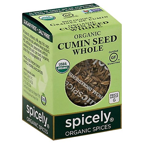 Spicely Organic Spices Cumin Seed Whole Ecobox - 0.5 Oz