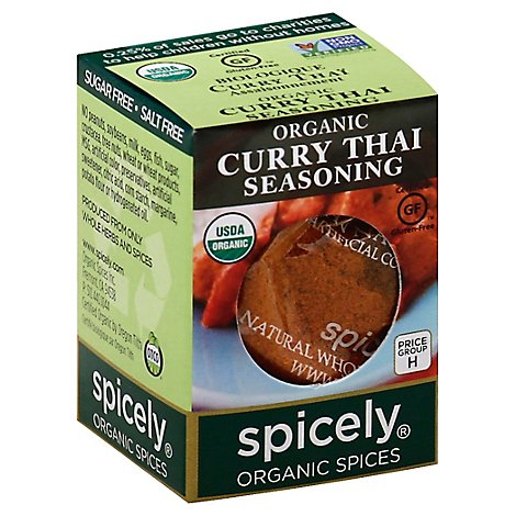 Spicely Organic Spices Seasoning Curry Thai Ecobox - 0.45 Oz