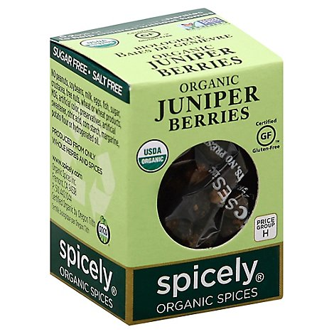Spicely Organic Spices Berries Juniper Ecobox - 0.2 Oz